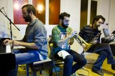 Pau Domènech se unió en la improvisación final