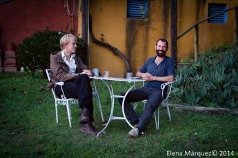 Johannes y Tom en un momento de la entrevista